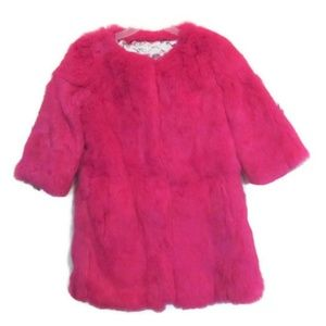 Jackets & Blazers - hot pink fur coat size small 4 6 nwot jacket mod